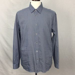 Ted Baker Navy Tentens Geometric Print Dress Shirt